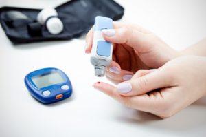 Diabetes bei der Blutzuckermessung