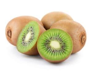 Kiwi Frucht mit Hälften