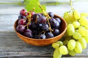Weintrauben in einer Schüssel